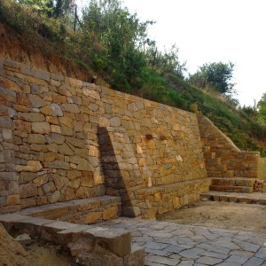 Supporting wall – Bilovice nad Svitavou, Dobrovskeho