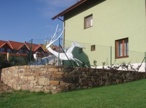 Okrasná zeď – Bílovice nad Svitavou, Polanka