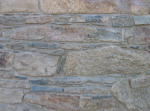 Kamenné zdivo – Červená Lhota uTřebíče, kostel