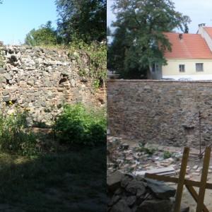 Obnova ohradní zdi – klášter Rosa Coeli