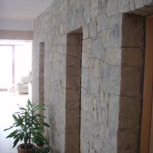 Dekorační kamenné zdivo – Jiříkovice uNového Města na Moravě, interiér