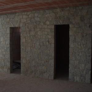 Kamenné zdivo – Jiříkovice uNového Města na Moravě, interiér.