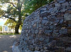 Obnova opěrné zdi – Lysice, zámek