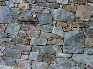 Dry laid wall – Lysice, chateau