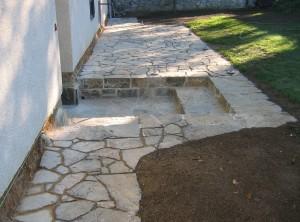 Přírodní, kamenná dlažba – Rudice uBlanska